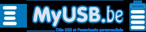 Clés USB publicitaires et personnalisés en Belgique Logo